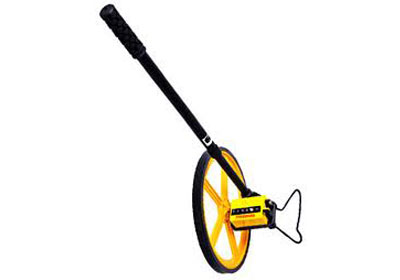 measuring wheel name. name : measuring wheel - plastic description abs wheel. extremely light weight and durable. two-section telescopic handle. carry bag included. rkm
